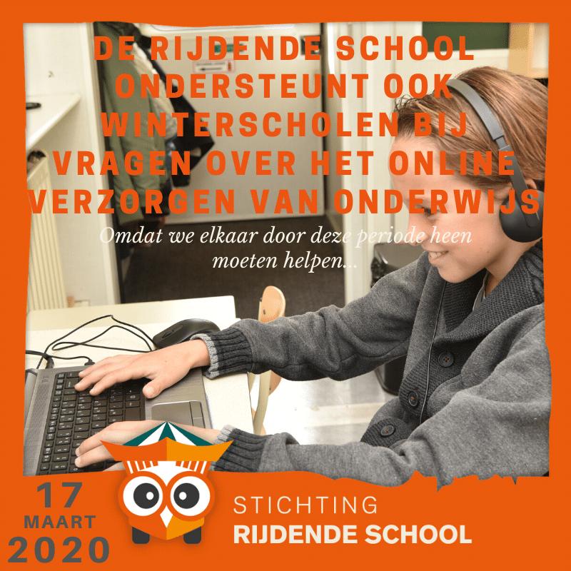 De Rijdende School ondersteunt ook winterscholen